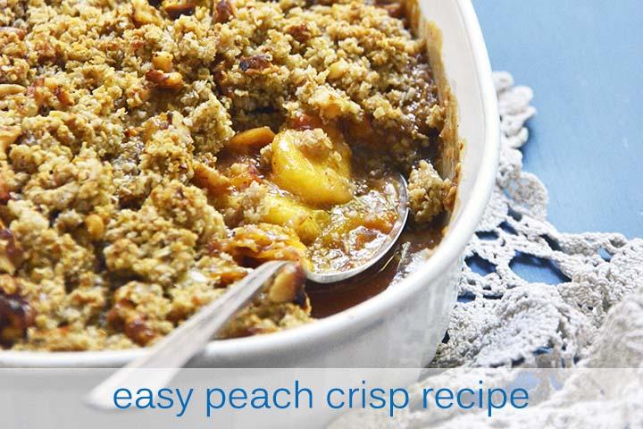 Easy Peach Crisp Recipe with Description