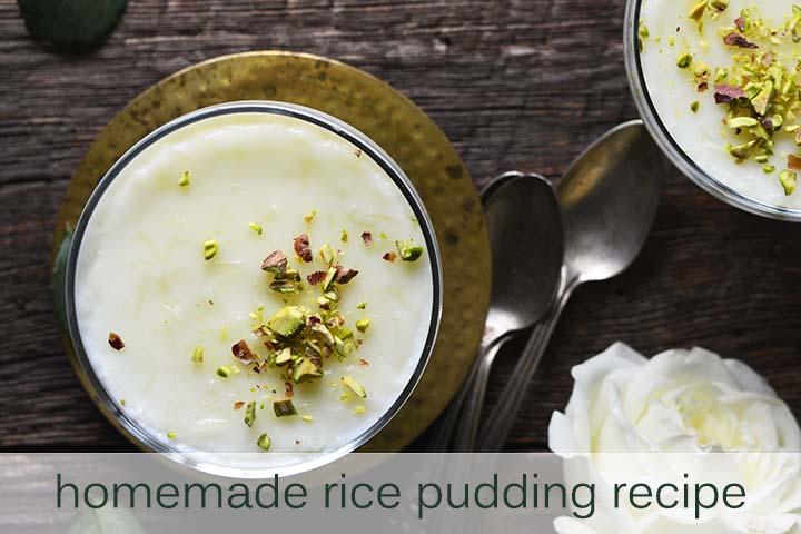 Homemade Rice Pudding Recipe