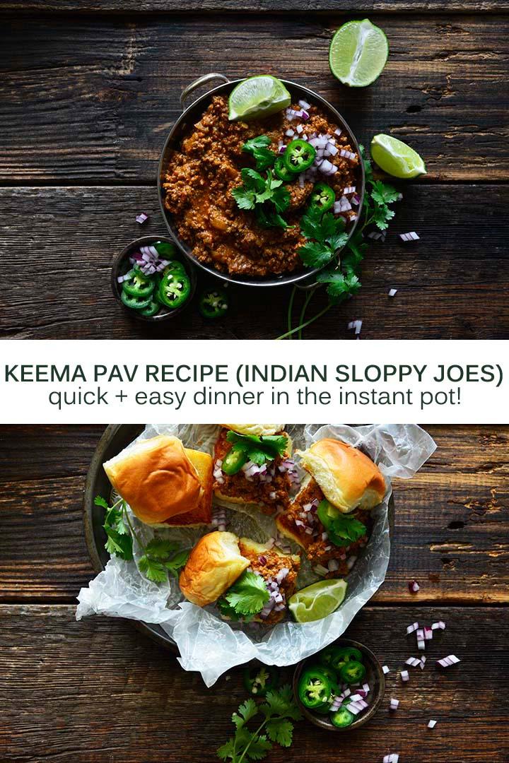 Keema Pav Recipe Pin