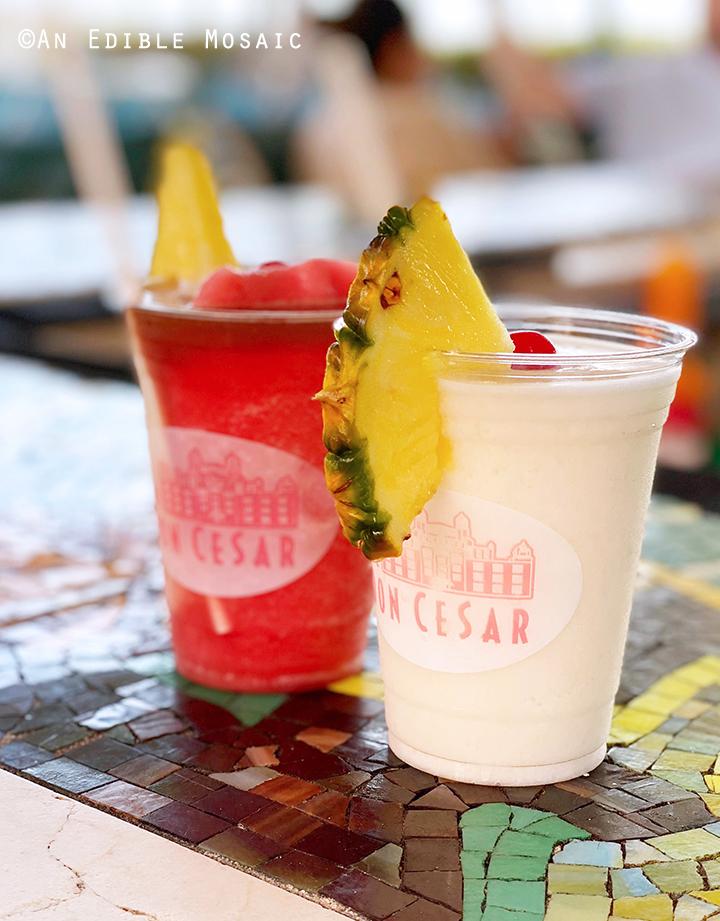 Pina Colada and Miami Vice Drinks at Don CeSar