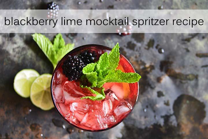 Blackberry Lime Mocktail Spritzer Recipe with Description