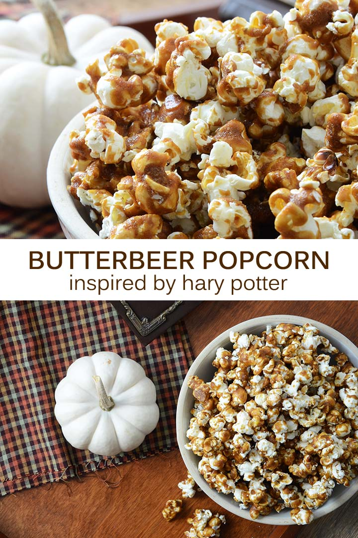 Butterbeer Popcorn Inspired by Harry Potter Pin