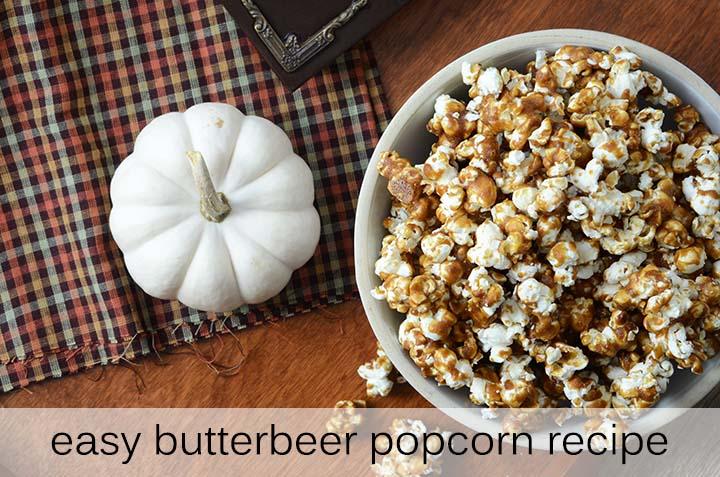 Easy Butterbeer Popcorn Recipe