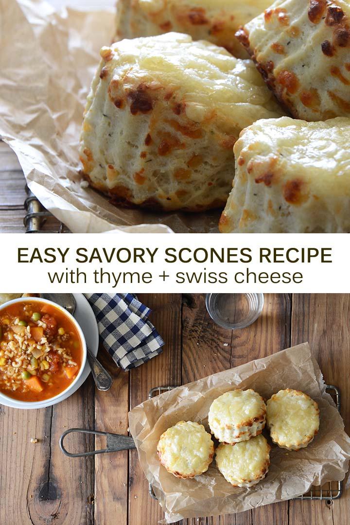 Easy Savory Scones Recipe Pin
