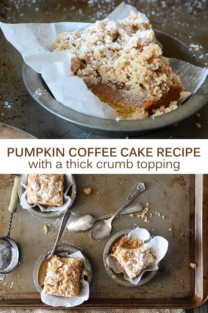 Pumpkin Coffee Cake Recipe Pin
