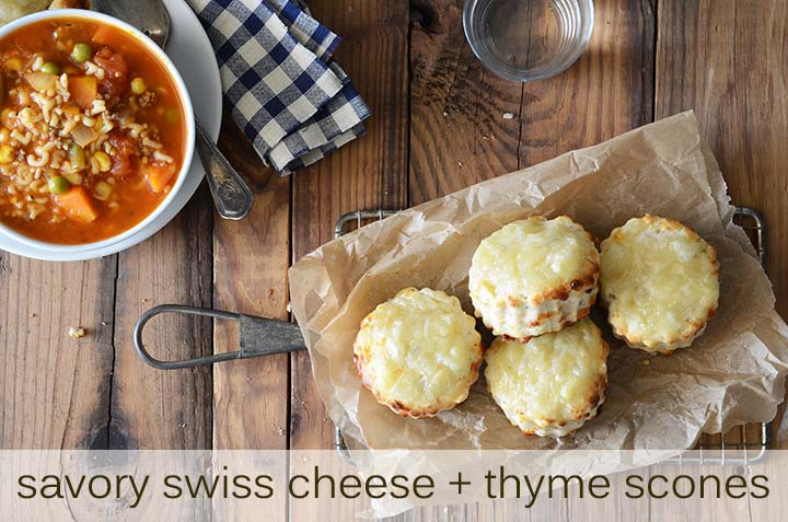 Savory Swiss Cheese and Thyme Scones with Description