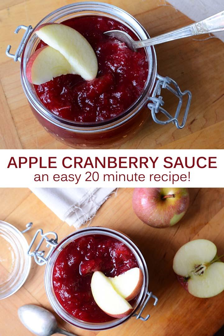 Apple Cranberry Sauce Recipe Pin