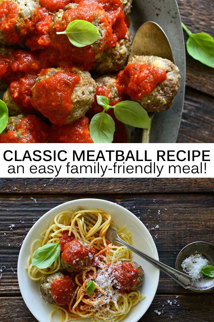 Classic Meatball Recipe Pin