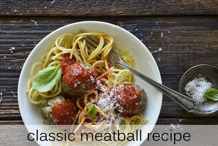 Classic Meatball Recipe with Description