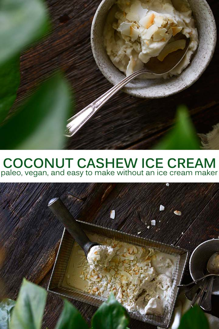 Coconut Cashew Ice Cream Recipe Pin