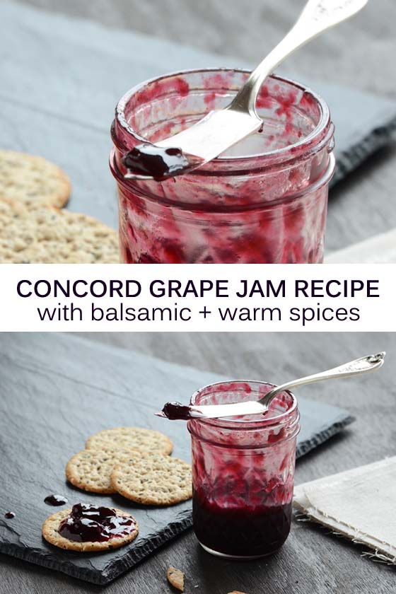 Concord Grape Jam Recipe Pin