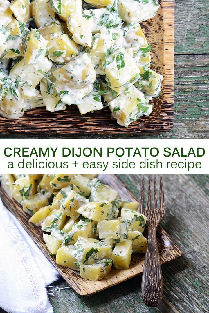 Creamy Dijon Potato Salad Recipe Pin