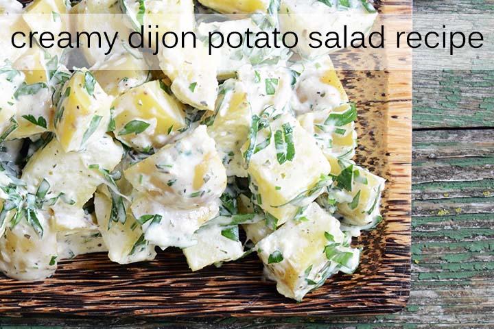 Creamy Dijon Potato Salad with Description