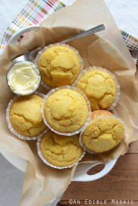 Overhead View of Easy Cornbread Muffins