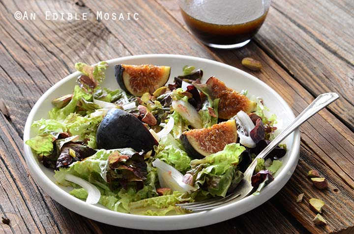 Fig Salad Recipe with Pomegranate Dressing