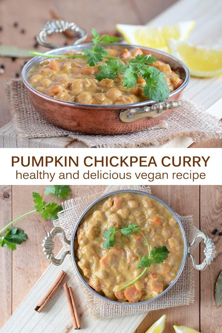 Pumpkin Chickpea Curry Recipe Pin