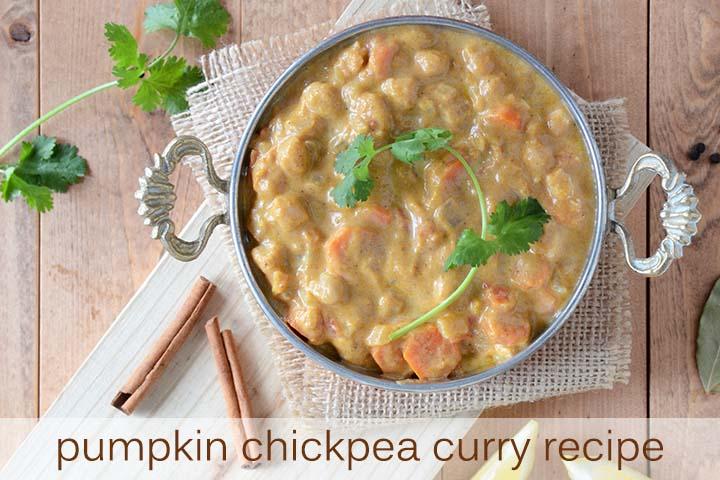 Pumpkin Chickpea Curry Recipe with Description