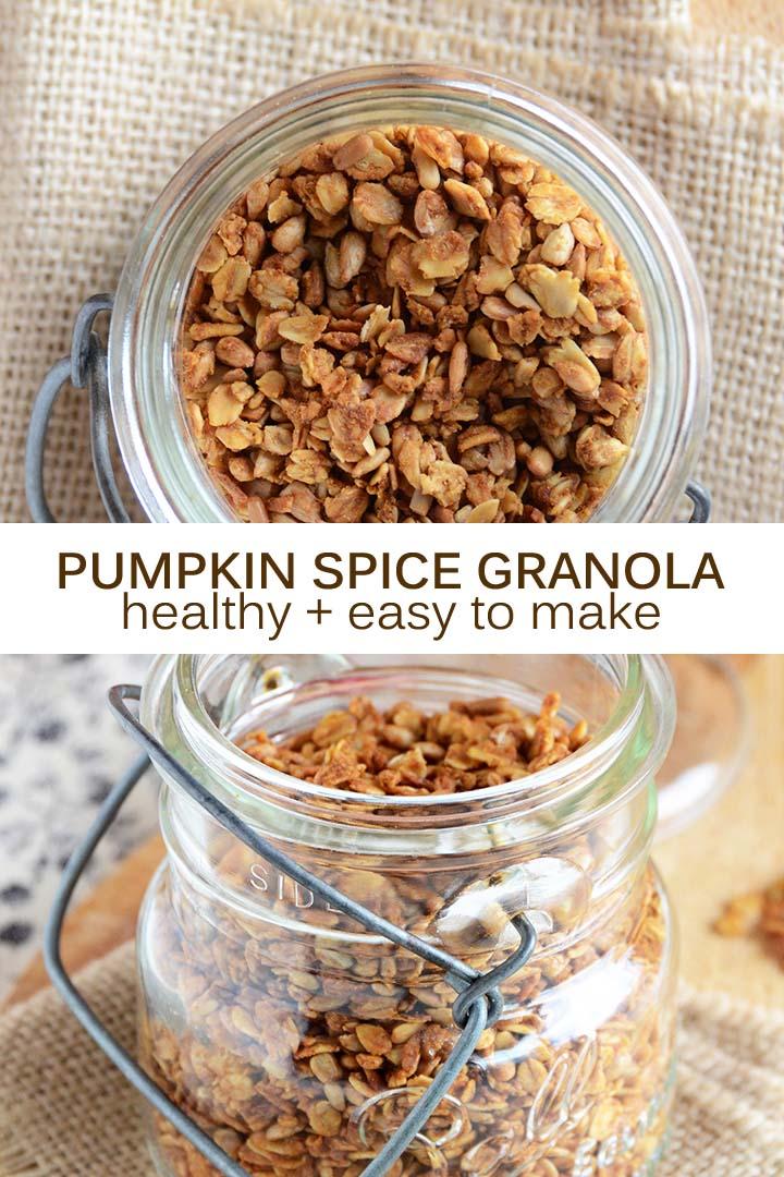 Pumpkin Spice Granola Recipe Pin