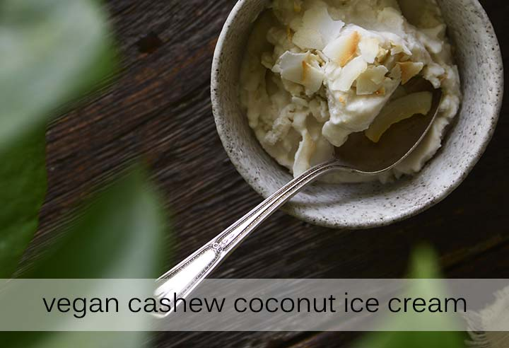 Vegan Cashew Coconut Ice Cream with Description