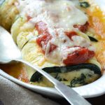 Close Up Front View of Zucchini Roll Ups