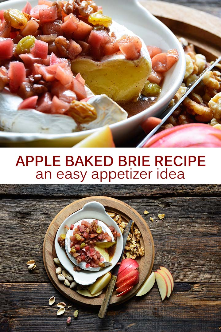 Apple Baked Brie Recipe Pin