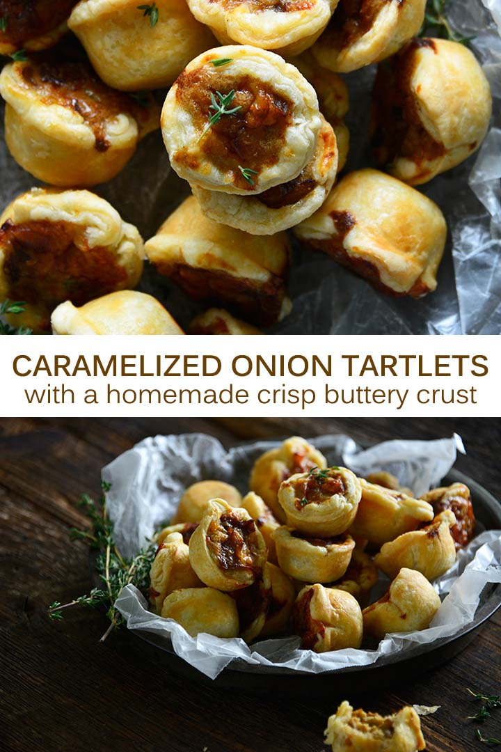 Caramelized Onion Tartlets Pin