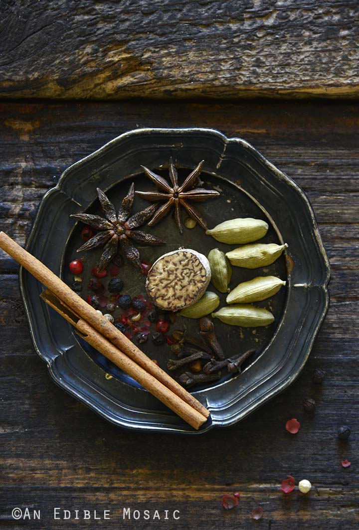 Chai Spices on Metal Plate