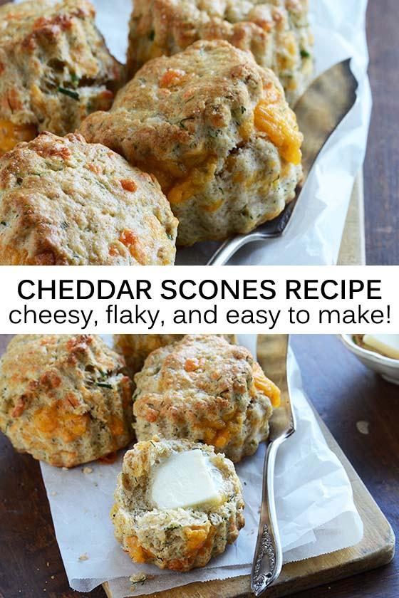 Cheddar Scones Recipe Pin