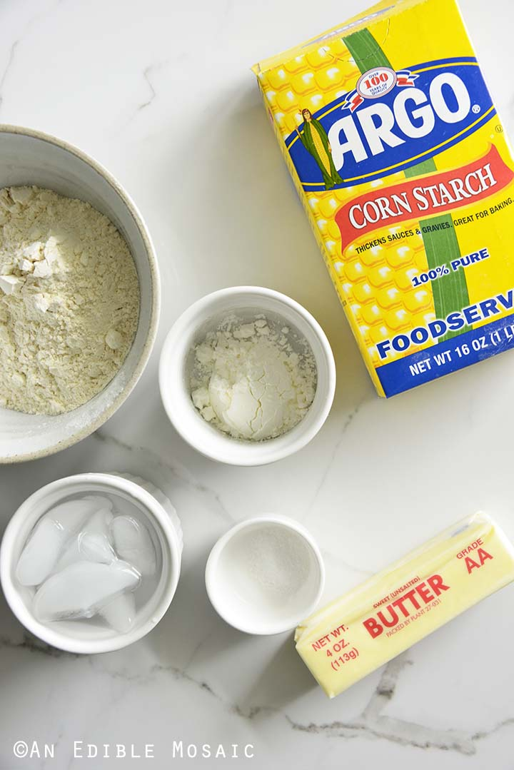 Ingredients for Pie Crust with Cornstarch