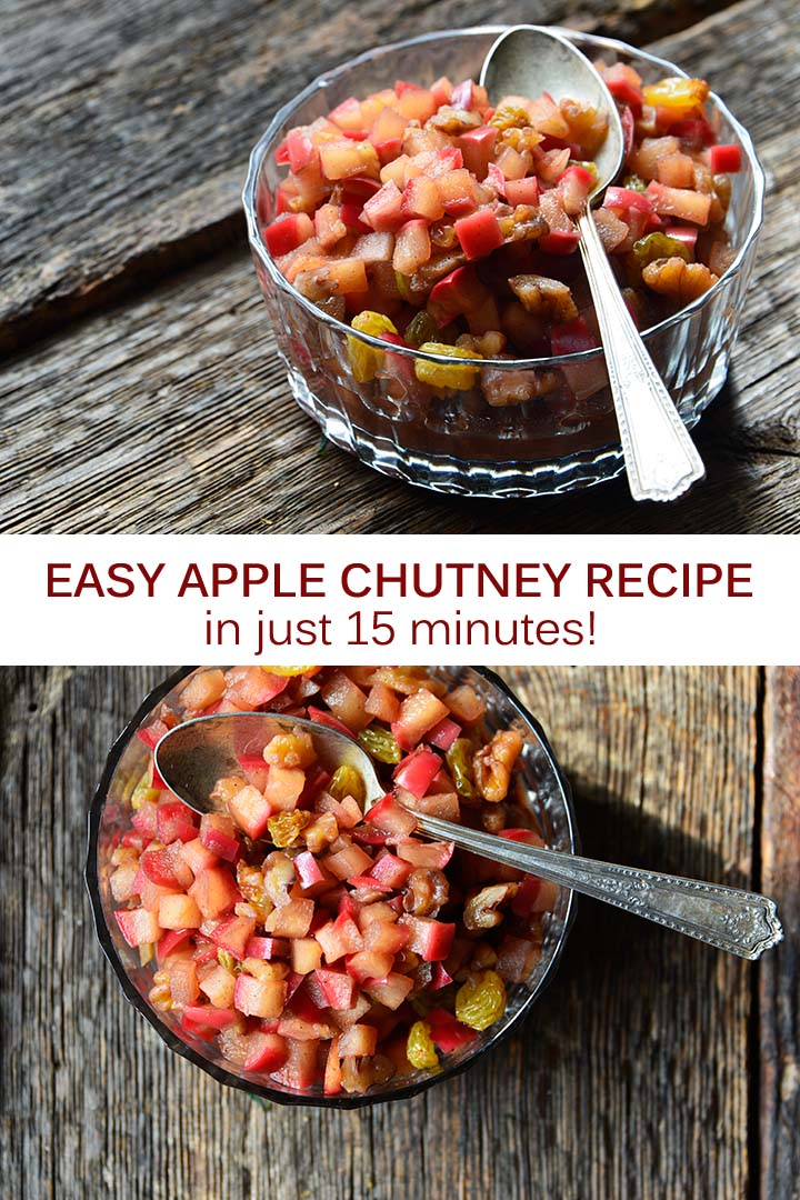 Easy Apple Chutney Recipe Pin