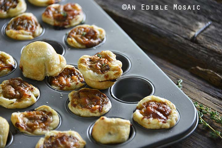 French Onion Tartlets in Mini Muffin Tray
