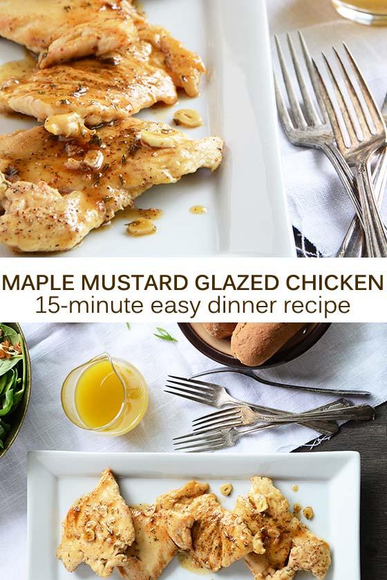 Maple Mustard Glazed Chicken Recipe Pin
