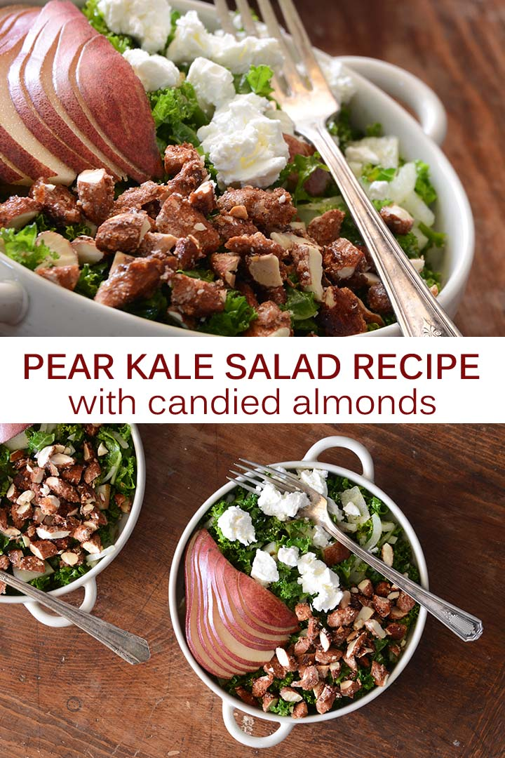 Pear Kale Salad Recipe Pin