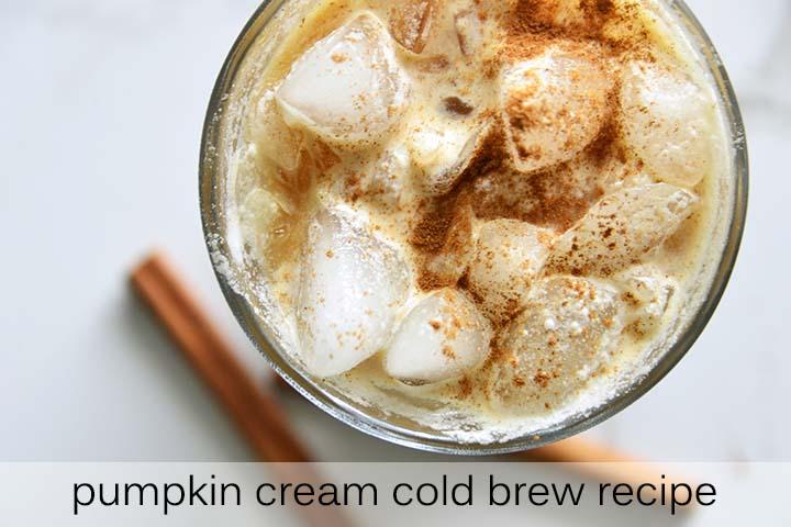 Pumpkin Cream Cold Brew with Description