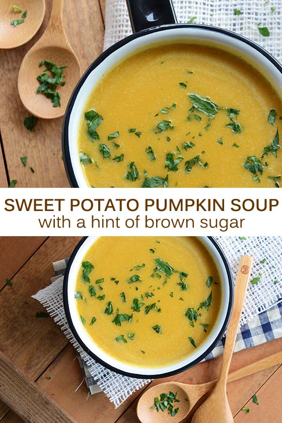 Sweet Potato Pumpkin Soup Recipe Pin