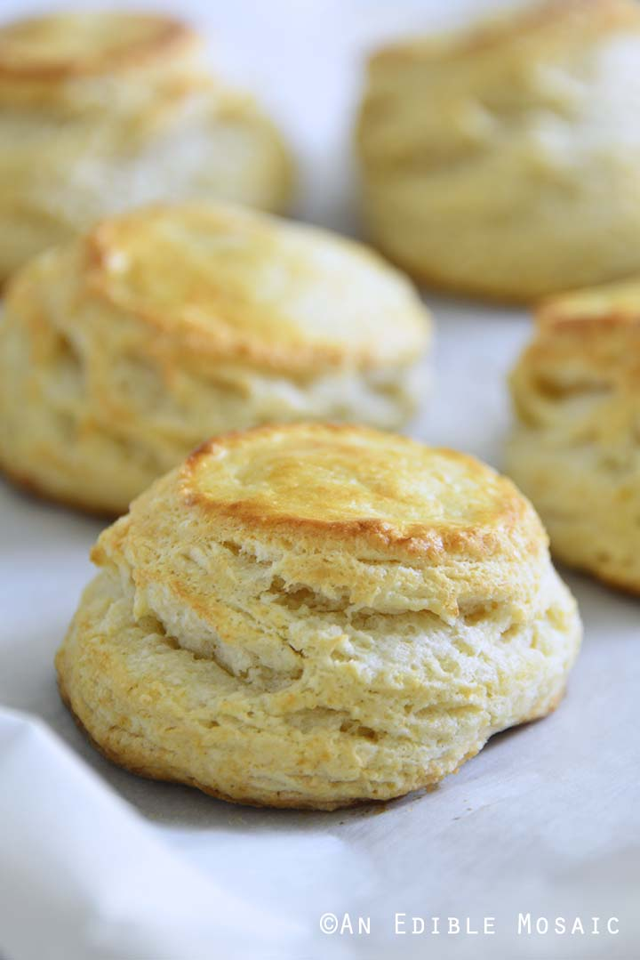 Baked Biscuits on Tray