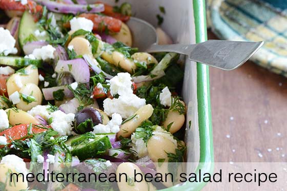 Mediterranean Bean Salad Recipe with Description