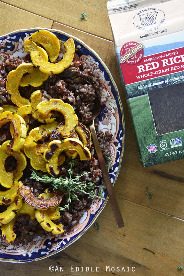 Red Rice Salad with Roasted Squash and Ralston Red Rice Package