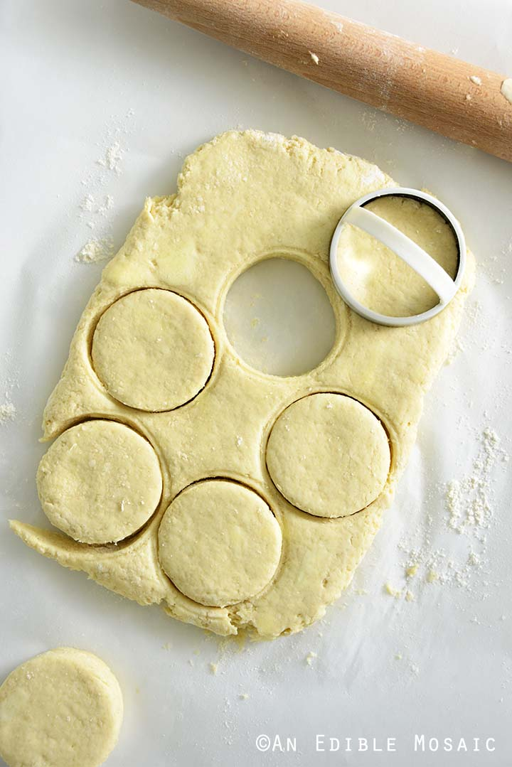 Stamping Biscuits Into Circles