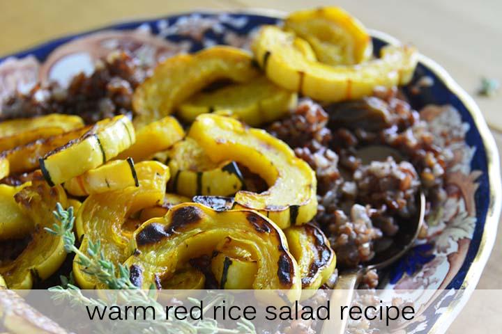 Warm Red Rice Salad Recipe with Description