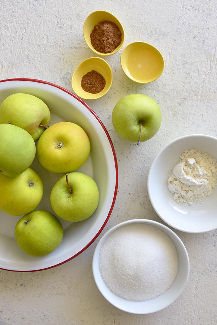 Apple Filling Ingredients for Making Apple Crisp