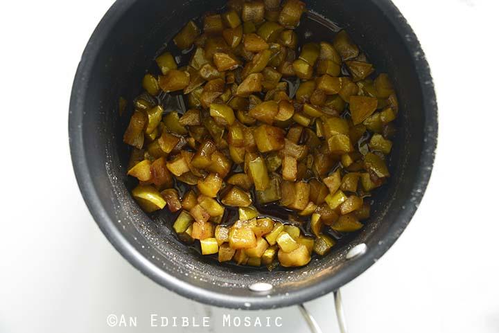 Apple Hand Pie Filling Ingredients in Saucepan After Cooking