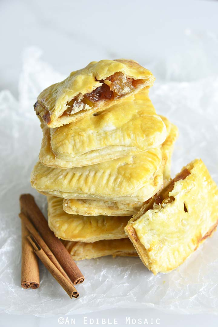Front View of a Stack of Apple Hand Pies
