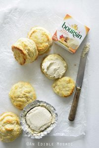 Biscuits with Maple Bourbon Boursin Spread on Top
