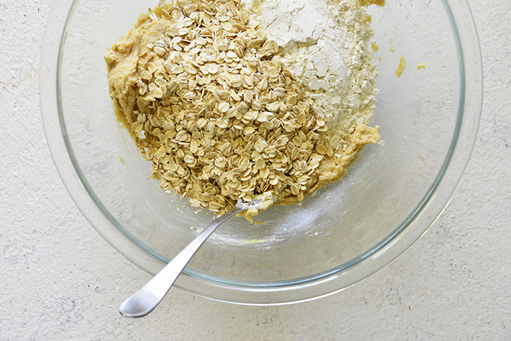 Butter Brown Sugar Oats and Flour for Crumble Topping