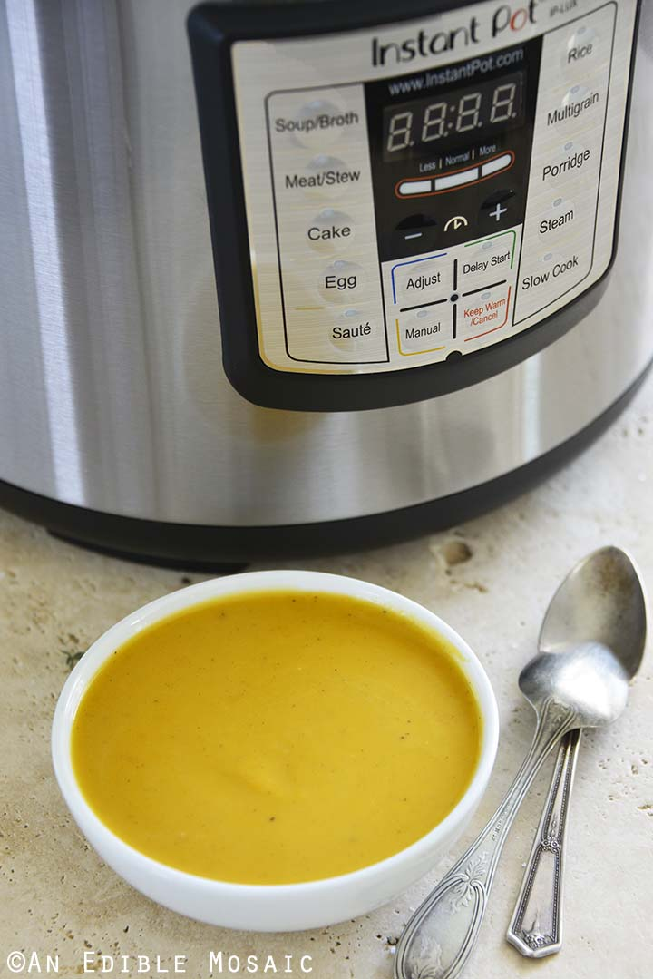 Butternut Squash Soup with Instant Pot