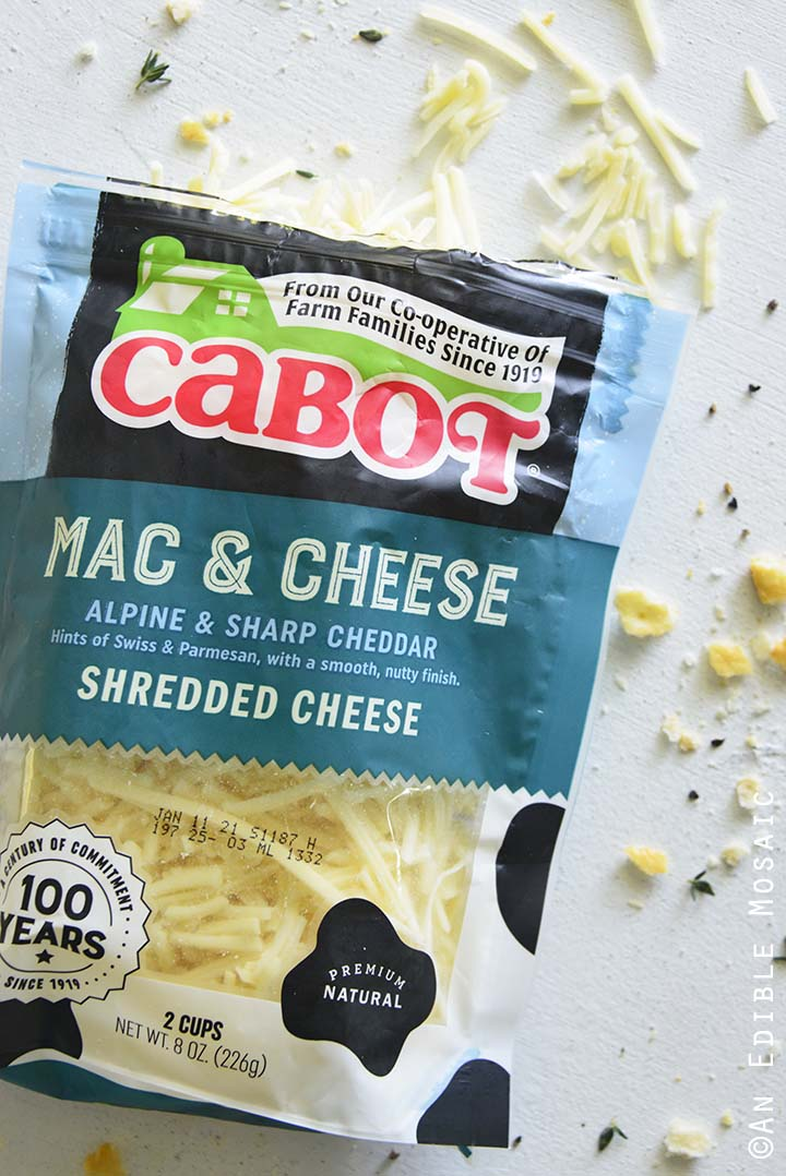 Cabot Mac and Cheese Alpine and Sharp Cheddar Shredded Cheese