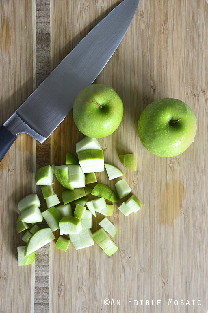 Chopping Granny Smith Apples