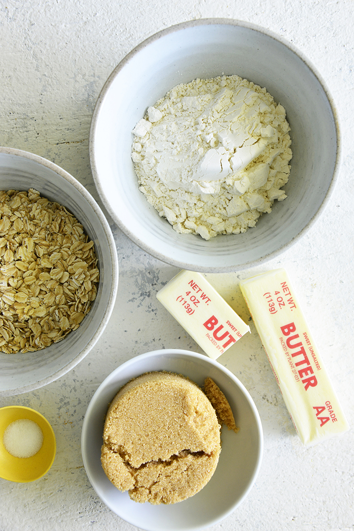 Crumble Topping Ingredients