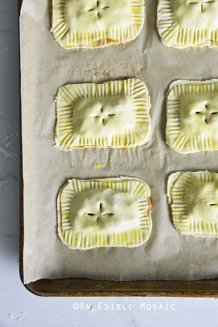 Cutting Slits in Tops of Hand Pies